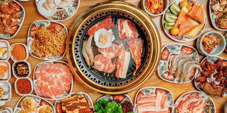 #爆品加推#158元享【汉江山料理级自助烤肉】 双人精品自助餐(1米以下儿童免费),海鲜+烤肉+日料,300+菜品众多不限量美食等你来撩!